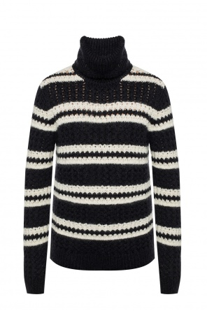 Turtleneck top with a striped pattern od Saint Laurent