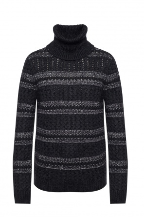 Braided turtleneck sweater od Saint Laurent