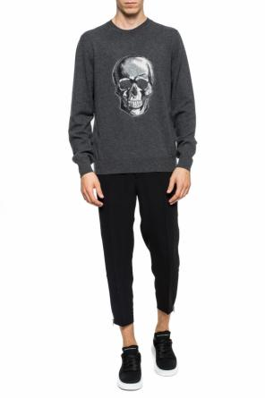 Sweater with a skull motif od Alexander McQueen