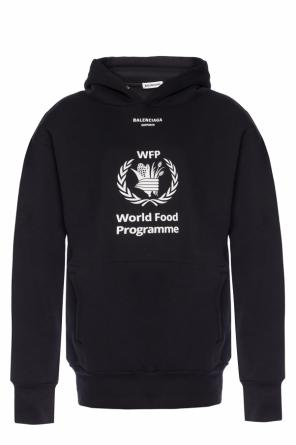 'world food programme' printed sweatshirt od Balenciaga