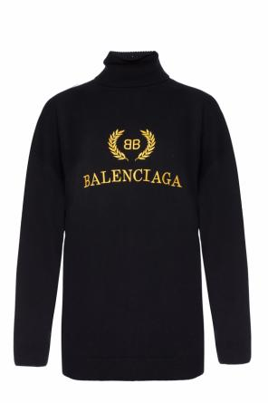 Turtleneck top with an embroidered logo od Balenciaga