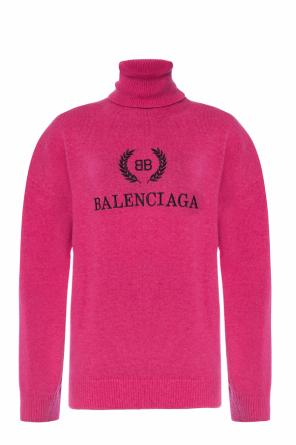 Embroidered turtleneck sweater od Balenciaga