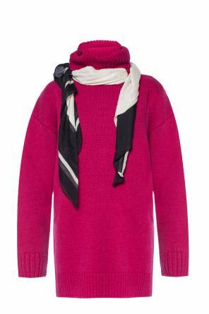 Hooded sweater with neckerchief od Balenciaga