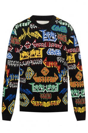 Decorated jacquard sweater od Gucci