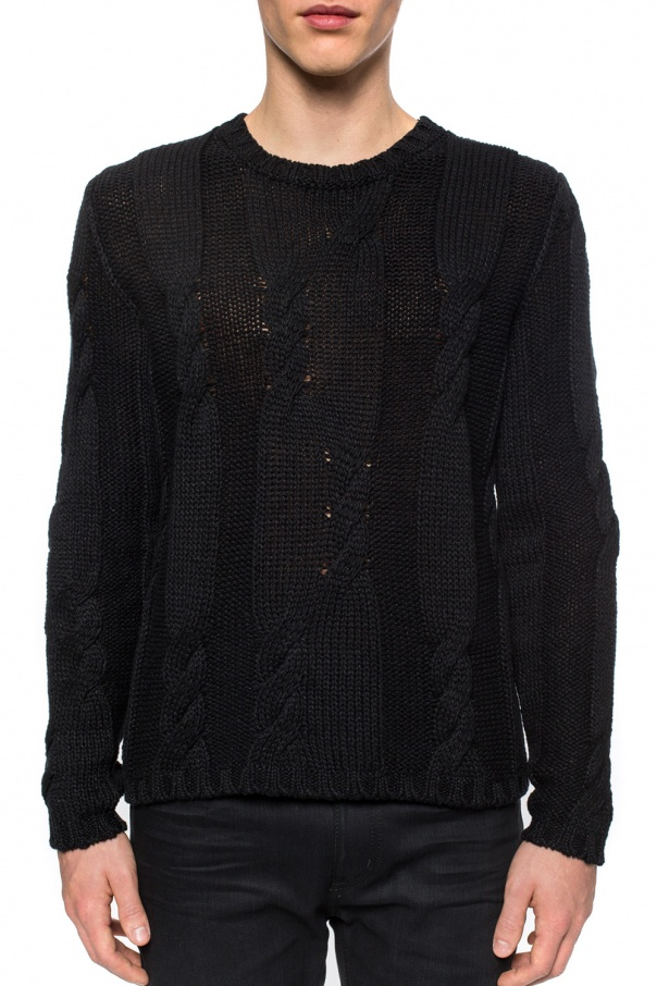 ba360bbb0e564 Braided knit sweater Saint Laurent - Vitkac shop online