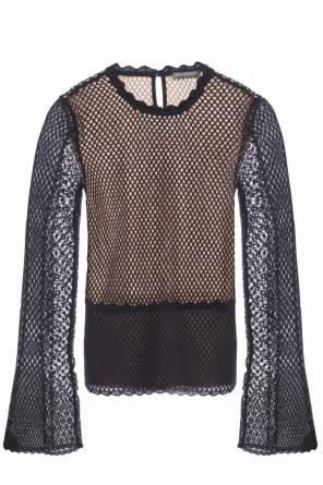 Flared sleeves top od Alexander McQueen
