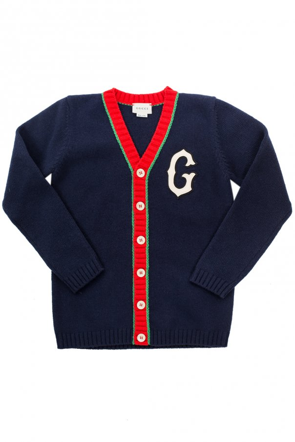 Patched cardigan od Gucci Kids