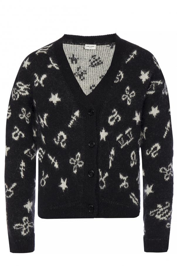 52066cb43b50d Sweater with an embroidered pattern Saint Laurent - Vitkac shop online