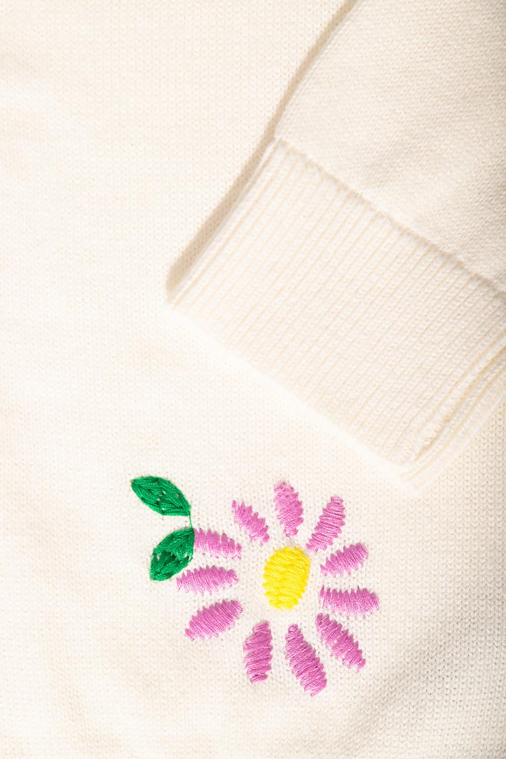Stella McCartney Kids Floral-embroidered cardigan