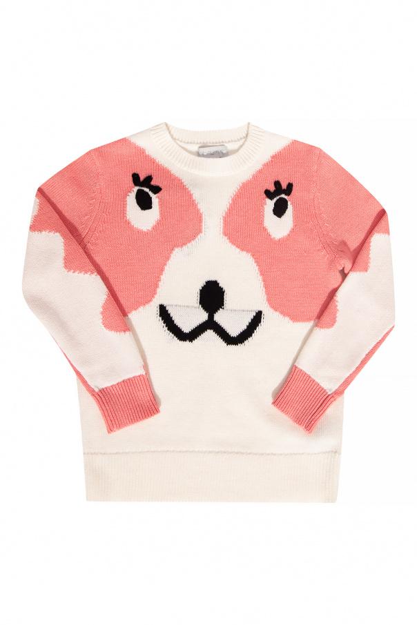 Stella McCartney Kids Sweter z wyszytym wzorem