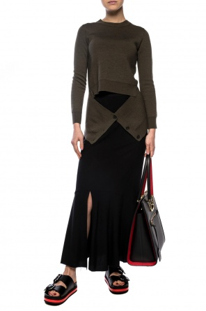 Sweater with slit od Alexander McQueen