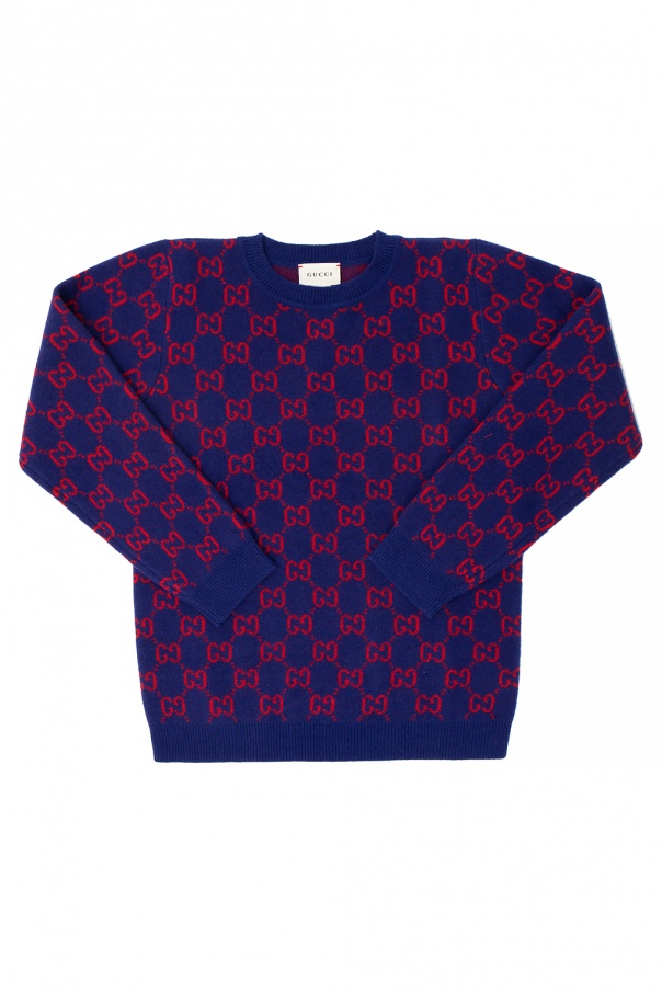 Gucci Kids Wool sweater with logo