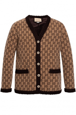 Wool cardigan with logo od Gucci