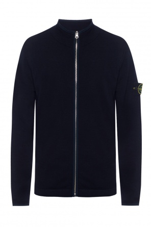 Cardigan with detachable applique od Stone Island