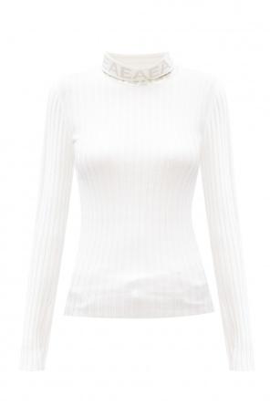 Ribbed turtleneck sweater with logo od Emporio Armani