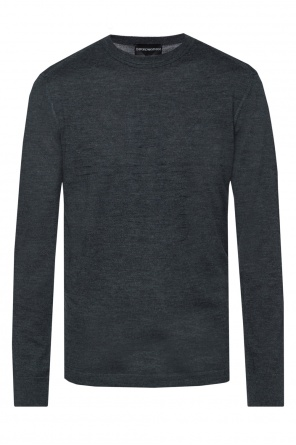 Logo-appliqued sweater od Emporio Armani