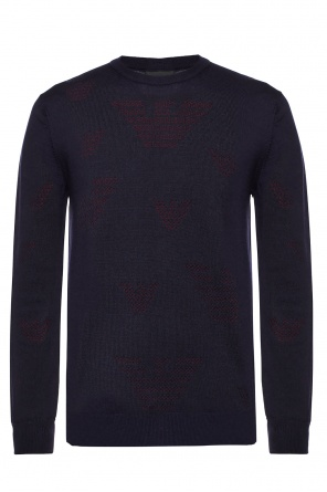 Sweater with embroidered logo od Emporio Armani
