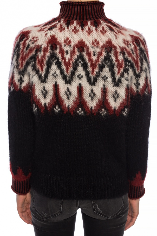 Embroidered turtleneck sweater od Coach