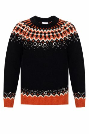 Sweater with decorative appliques od Burberry