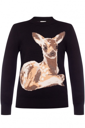 Animal motif sweater od Burberry