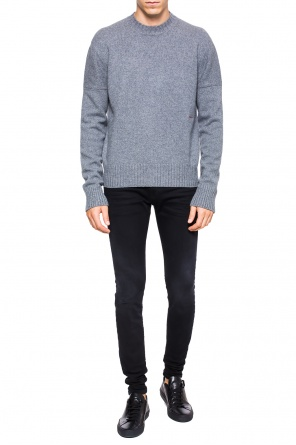 Embroidered lettering sweater od Calvin Klein