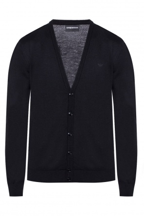 Cardigan with an embroidered logo od Emporio Armani