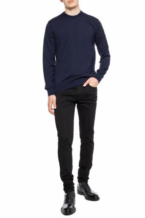 Logo-embroidered sweater od Emporio Armani
