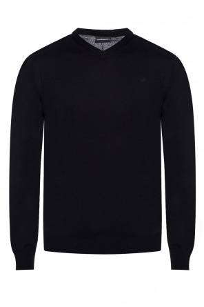 Sweater with an embroidered logo od Emporio Armani