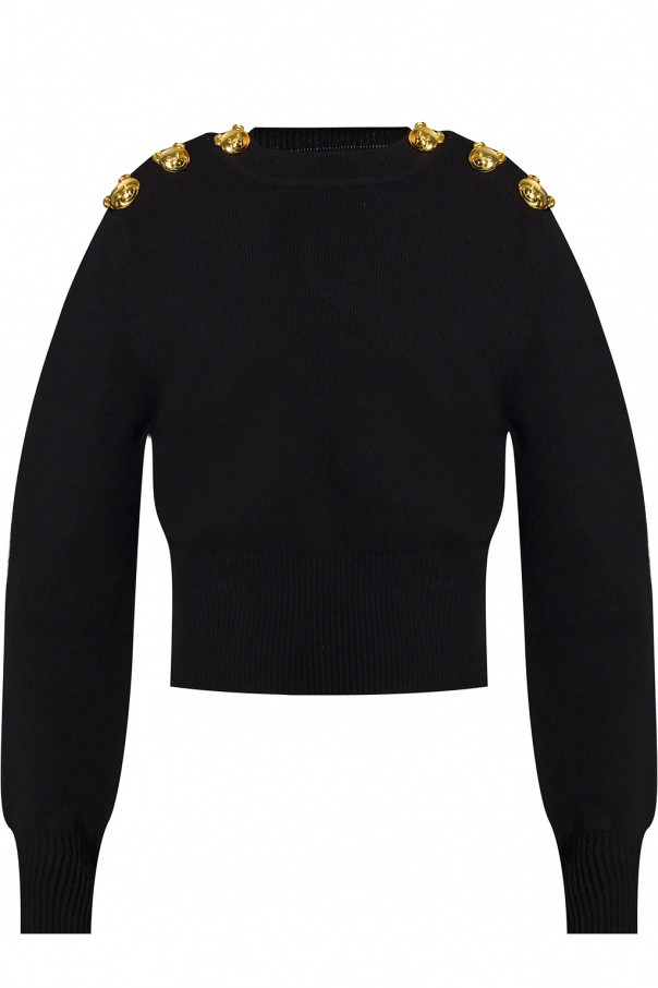 Moschino Ribbed sweater with teddy bear
