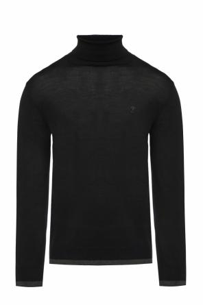 Embroidered turtleneck sweater od Moschino