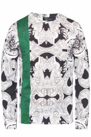 Sweater with 'baroque' motif od Versace