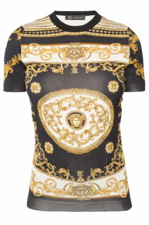 Greek pattern t-shirt od Versace