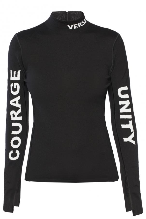 Logo turtleneck sweater od Versace