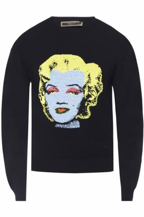 Sweater with embroidered pattern od Versace