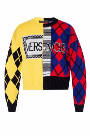 Logo-embroidered sweater od Versace