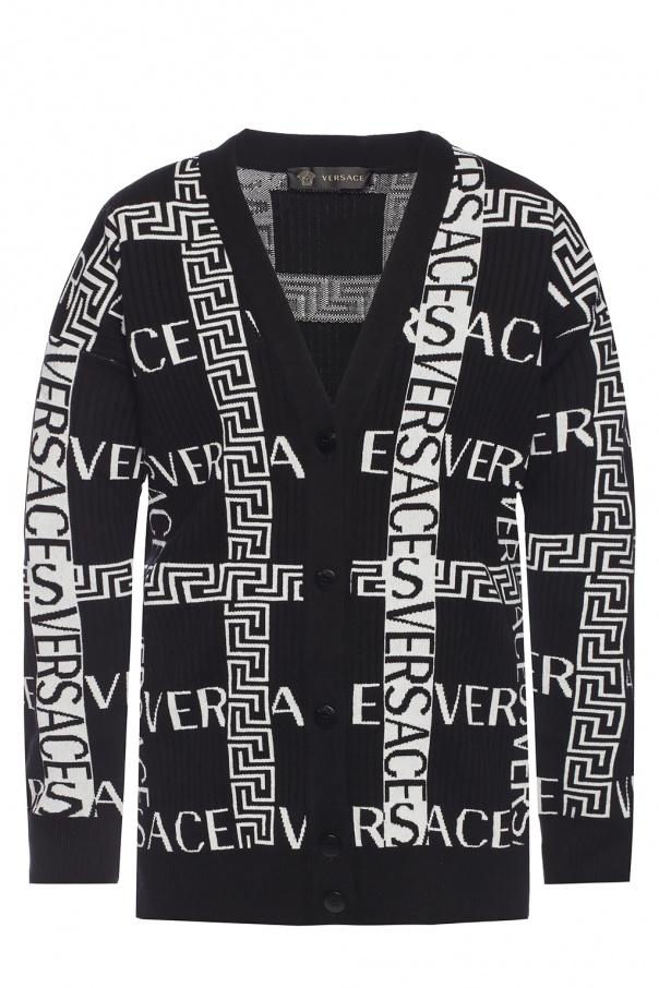 Logo cardigan od Versace