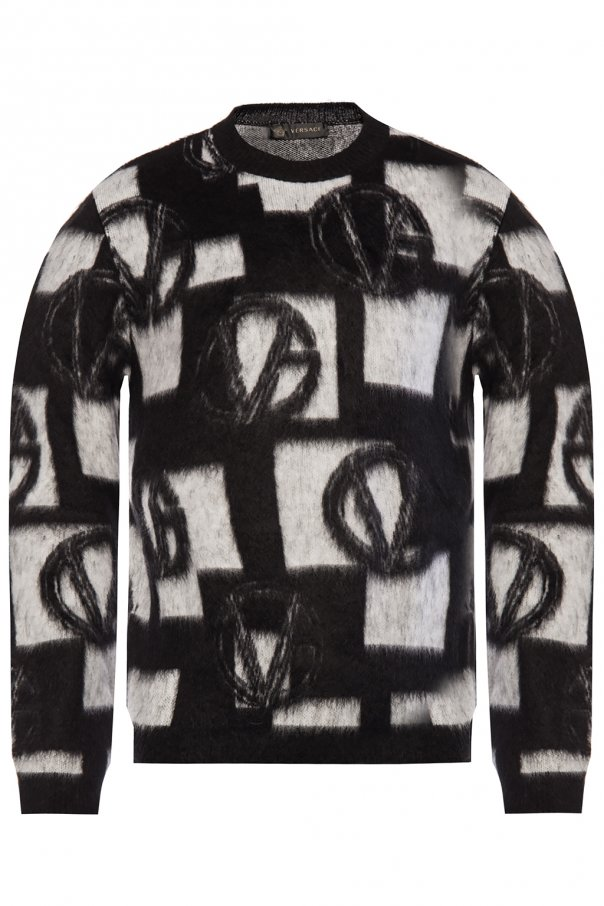Embroidered sweater od Versace