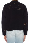 Raw-edge sweater od Versace