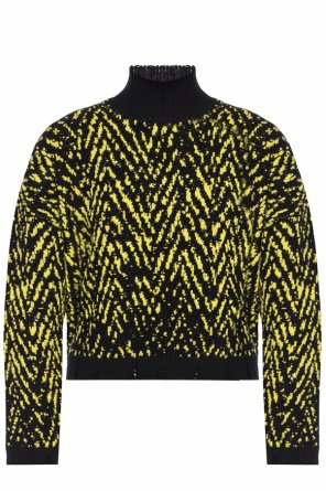 Raw-trimmed turtleneck sweater od Versace