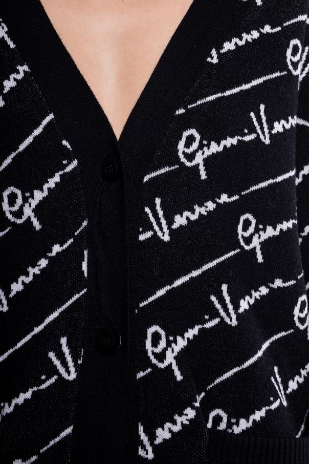 Branded wool cardigan od Versace