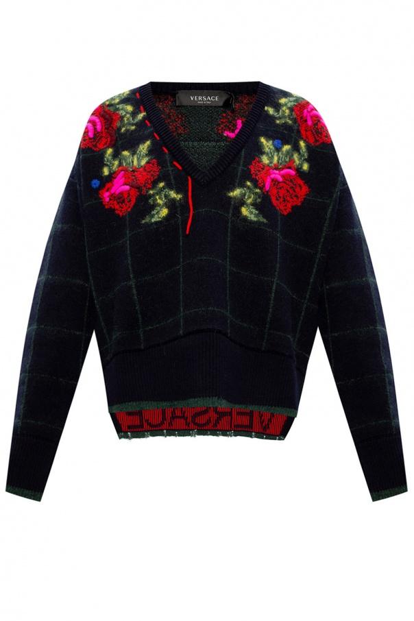 Versace V-neck sweater