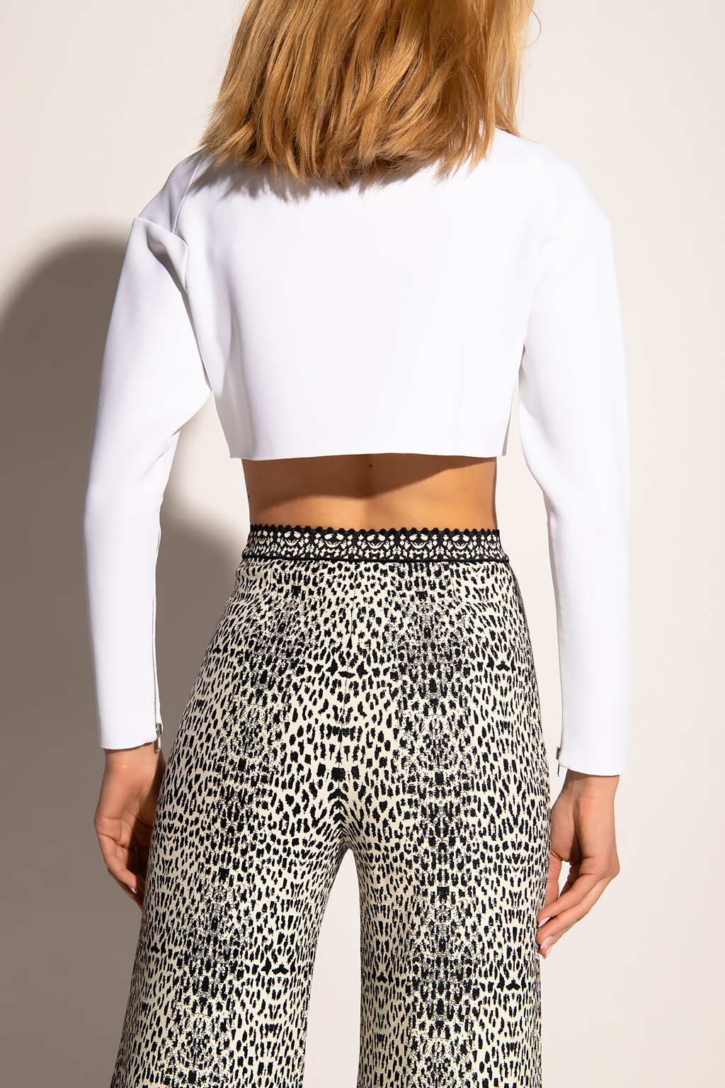 Alaia Crop top with long sleeves