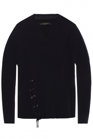 'able' v-neck sweater od AllSaints