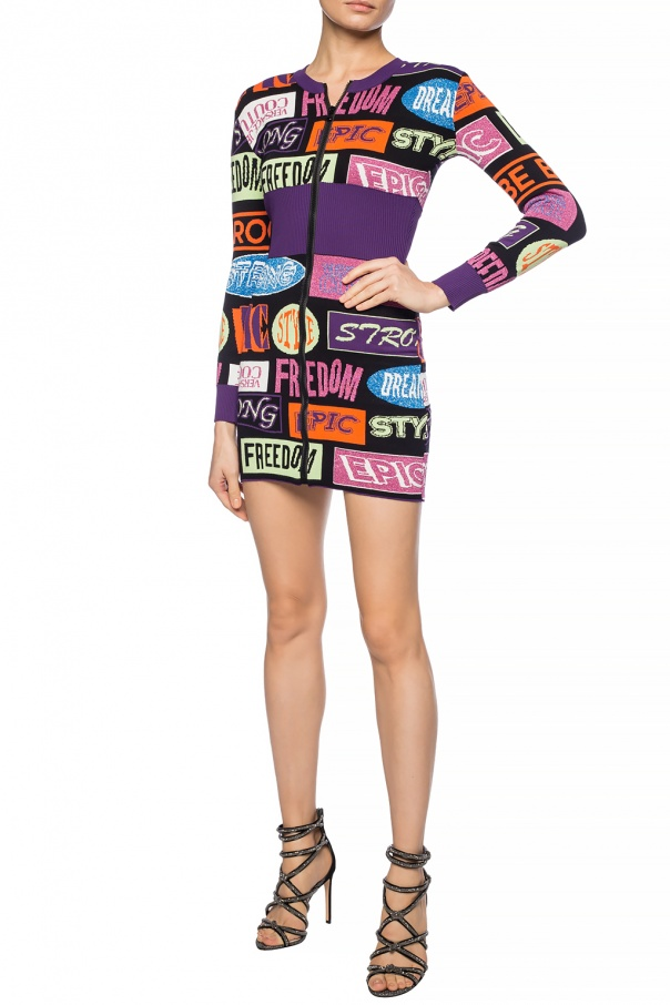 Patterned dress with long sleeves od Versace Jeans Couture