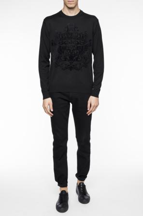 Sweater with velvet print od Versace Jeans