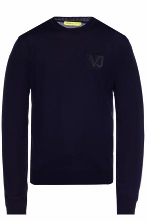 Logo-embroidered sweater od Versace Jeans