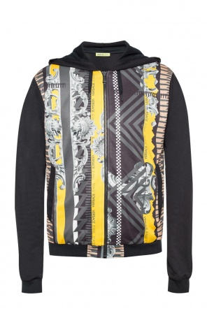 Patterned sweatshirt with hood od Versace Jeans