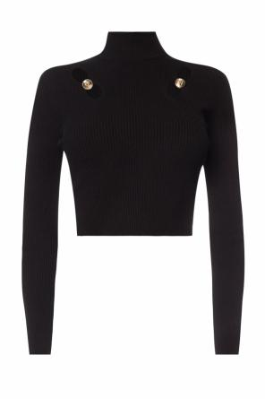 Cropped cut-out turtleneck sweater od Versace Versus