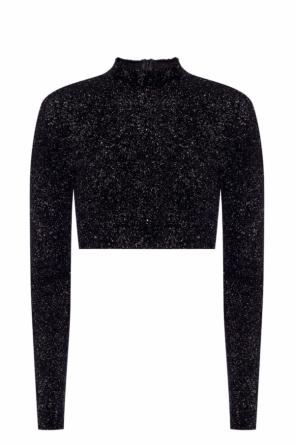 Cropped sweater trimmed with a lurex thread od Versace Versus