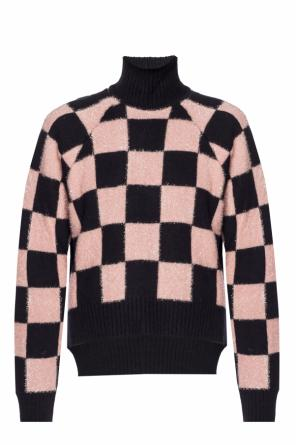 Checkerboard turtleneck sweater od Versace Versus